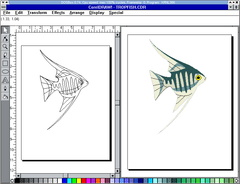 Corel Draw v2