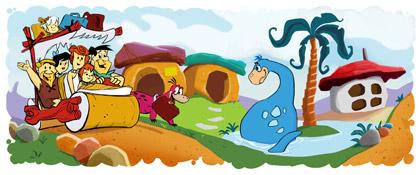 Google - Logo comemorativo: Aniversário dos Flintstones (30/09/2010)