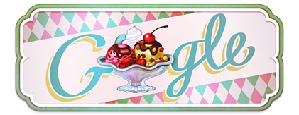Google - Logo comemorativo: Aniversário do primeiro sundae documentado (03/04/2011)